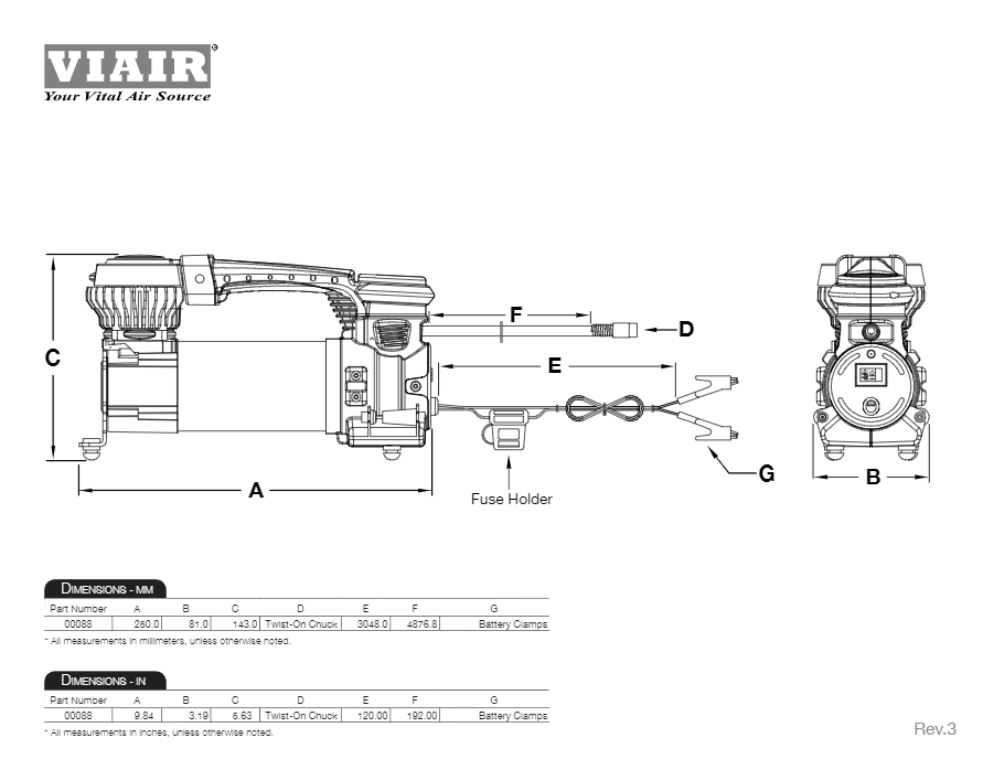 viair compressor wiring diagram viair 88p portable compressor for up to 33  tires 120 psi 1 47 cfm  viair 88p portable compressor for up to