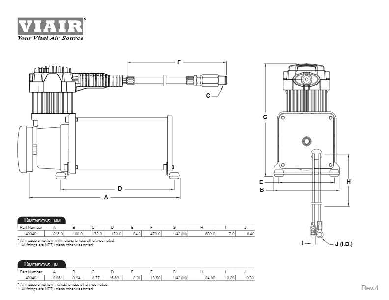 VIAIR 10005 Heavy Duty OBA For up to 35