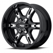 Moto Metal Wheels - Moto Metal - MO969 (Gloss Black w/ Chrome Accents)