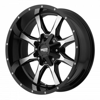 Moto Metal Wheels - Moto Metal - M0970 (Gloss BlackMachined w/ Milled Accents)