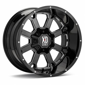 KMC Wheels - KMC XD825 Buck 25 (Gloss Black Milled)