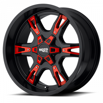 Moto Metal Wheels - Moto Metal - MO969 (Satin Black w/ Red Accents)