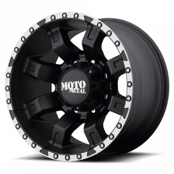 Moto Metal Wheels - Moto Metal - MO968 (Satin Black w/ Machined Flange)