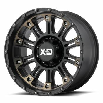KMC Wheels - KMC XD829 Hoss 2 (Satin Black Mach W/ Dark Tint Clear Coat)