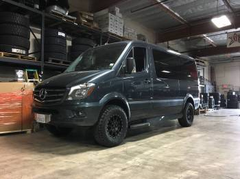 Blue Mercedes Sprinter Van Cover